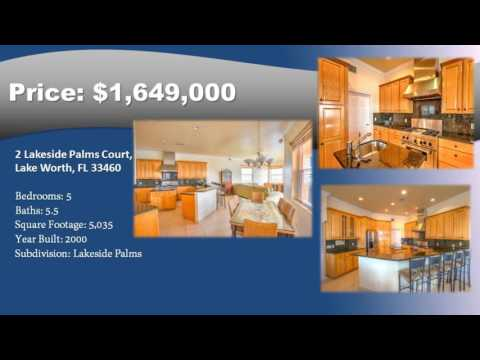 Lakeside Palms Home For Sale in Lake Worth Florida 33460