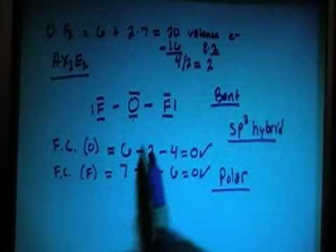 Oxygen Difluoride Of2 Lewis Dot Structure Youtube