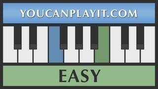 Deck the Halls - How to Play Piano - Easy Tutorial