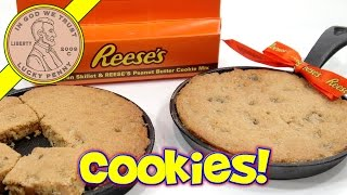 Reese's Cookies Cast Iron Skillet Christmas Gift! - Tasty Peanut Butter & Chocolate!