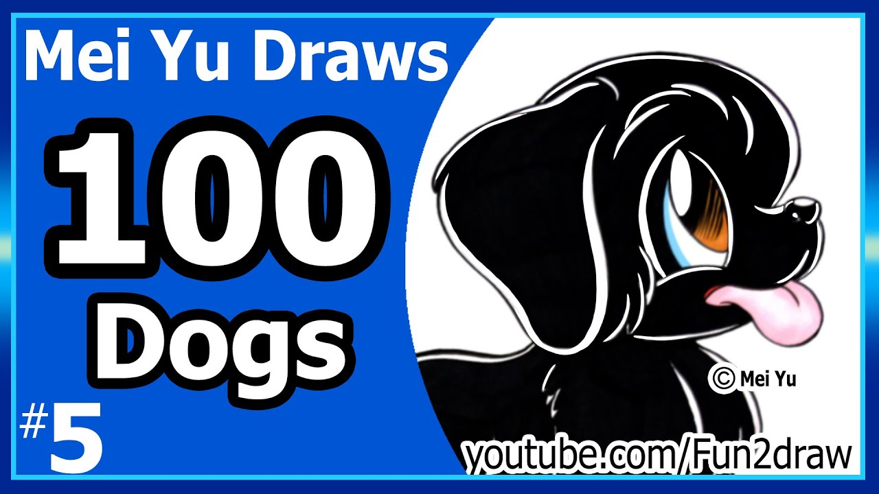 Cute black puppy 100 drawings challenge mei yu draws 100 dogs cute black puppy 100 drawings challenge mei yu draws 100 dogs 5 newfoundland dog ccuart Images