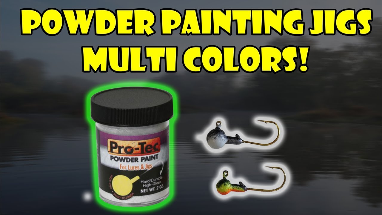 Tutorial: Powder Paint Multi Colors on Jig Heads T-Day Ep  2 - Two Toned  Pattern (DIY At Home)