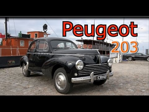 1956? Peugeot 203- ENGINE sound