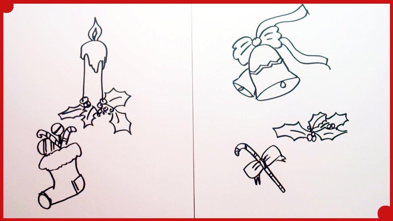 Como dibujar motivos navide os muy f ciles para colorear - Motivos navidenos para pintar en tela ...