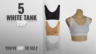 Top 10 White Tank Top [2018]: Golden Girl Pack of - 03 (Black, White & Beige ) Women