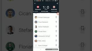 Österreich gegen Nordirland 1:0