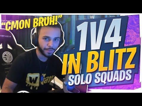 BUILD FIGHTING FULL TEAMS! BLITZ SOLO SQUADS WIN (Fortnite BR Full Game)