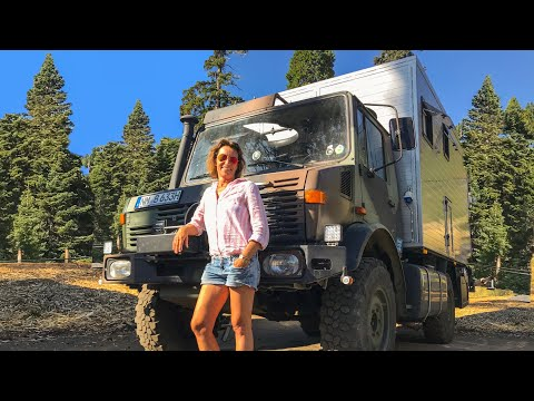 Solo Female Traveler lives VANLIFE in a 4x4 Expedition Vehicle ► | Mercedes Unimog Tour