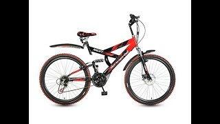 My new Hero Next 26T 18 Speed Mountain Bike (Black/Red)