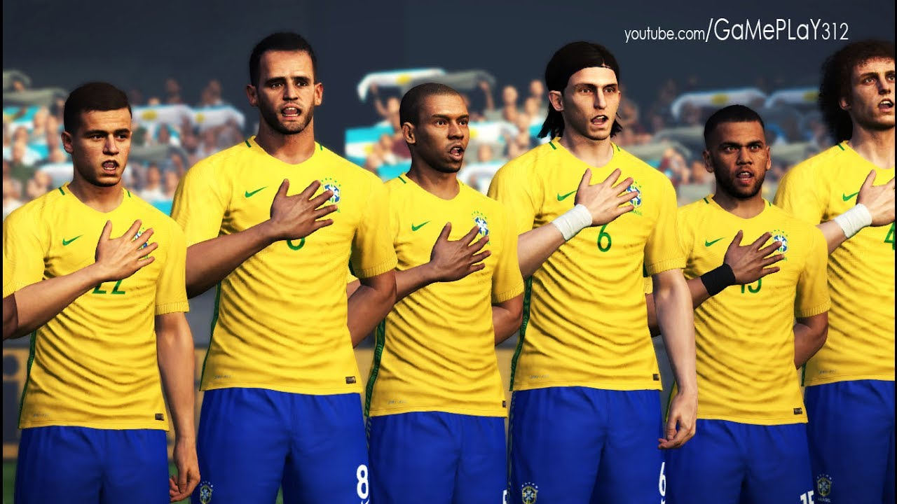 BRAZIL vs ARGENTINA - Internationals Friendly - PES 2017 ...