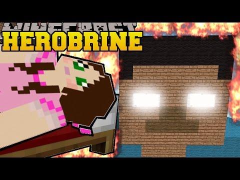 Minecraft: BURNING HEROBRINE! (HEROBRINE IS REAL!) Mini-Game