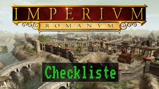 Checkliste: Imperium Romanum [Gameplay / HD / Deutsch / PC]