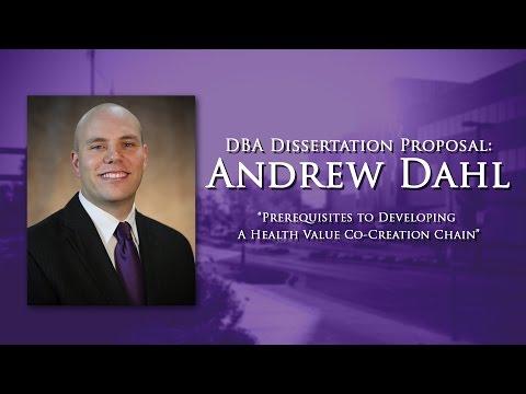 Andrew J. Dahl Dissertation Proposal