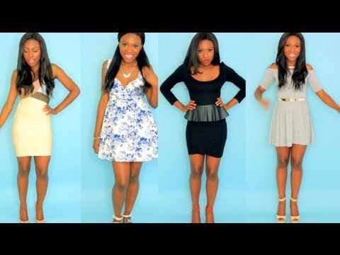 3a262fd684c 5 DRESSES FOR 5 BODY TYPES - YouTube
