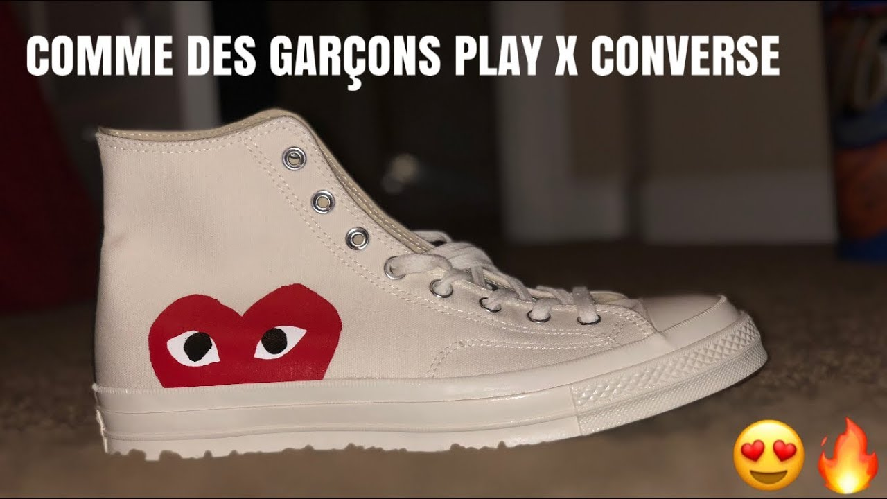 4ce8e7b08db9 COMME DES GARCONS PLAY X CONVERSE UNBOXING - YouTube
