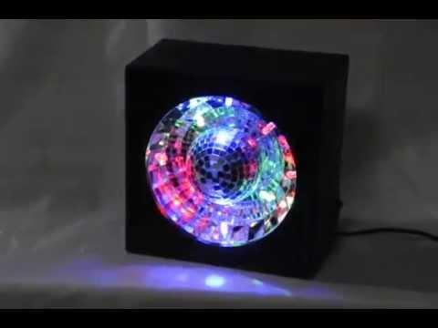 LED Rotating Disco Ball Mirror Party Box Light   YouTube