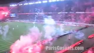 PSG 3 - 0 Metz [D1 2004/05 = Les supporters ne sont pas contents, Le Parc en FEU]