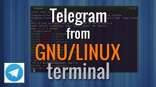 How to use Telegram with GNU/Linux (UBUNTU, RASPBIAN...) terminal | Como usar Telegram por terminal