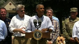 Obama on flood: This is not a photo-op issue