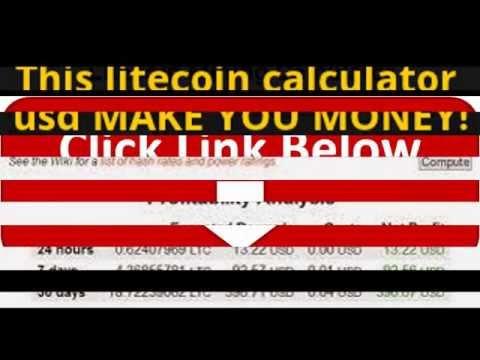This Litecoin Calculator Usd  MAKE YOU MONEY!