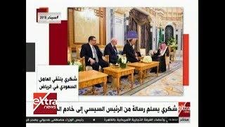 شكري يسلم رسالة من الرئيس السيسي إلى خادم الحرمين