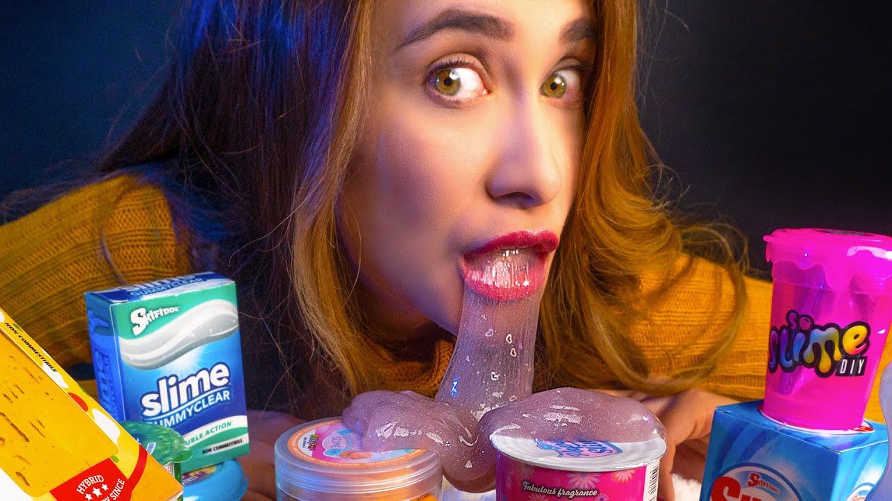 Asmr BUENOTE con SLIME para DORMIR DIVINO (food slime) | ASMR Español | Asmr with Sasha