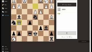 Шахматы.  Решение задач по тактике на chess.com