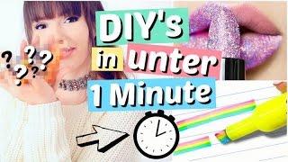 DIY's in UNTER 1 MINUTE | ViktoriaSarina