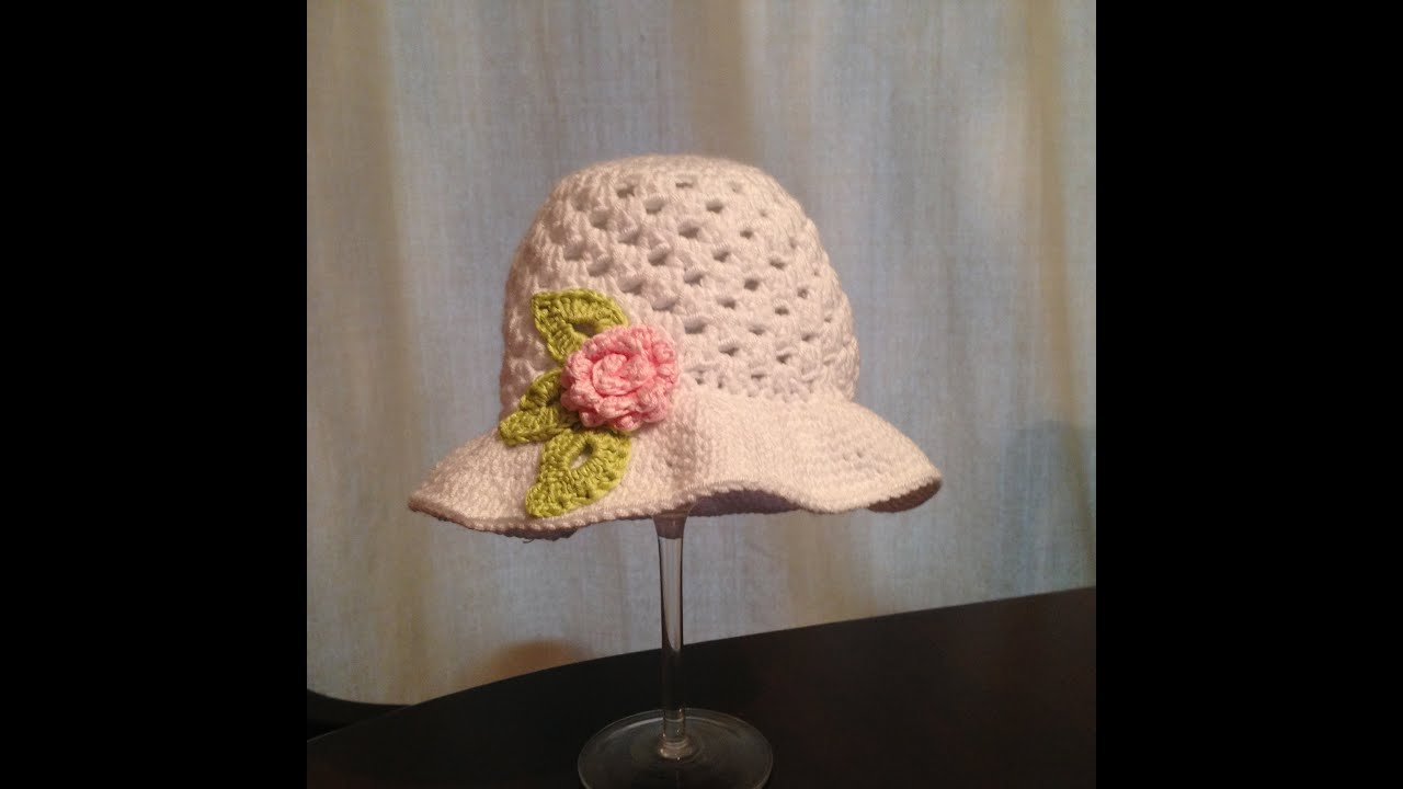 How To Crochet Beautiful Sun Hat For Little Girl Youtube
