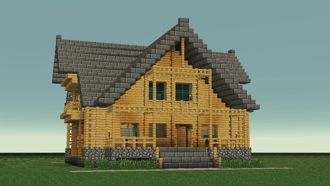 Minecraft  How To Build Big Wooden House  6