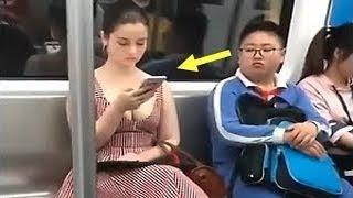هذا الرجل لم يكن يعلم أن هناك كاميرات في المترو... أنظروا ماذا فعل !!