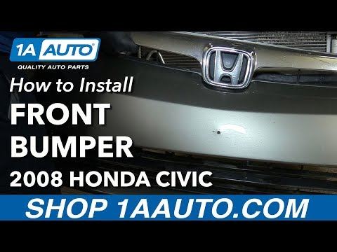 How to Replace Front Bumper 05-11 Honda Civic