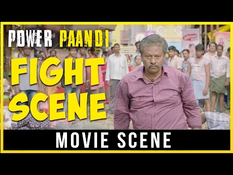 Pa Paandi - Fight Scene | Dhanush | Rajkiran | Sean Roldan
