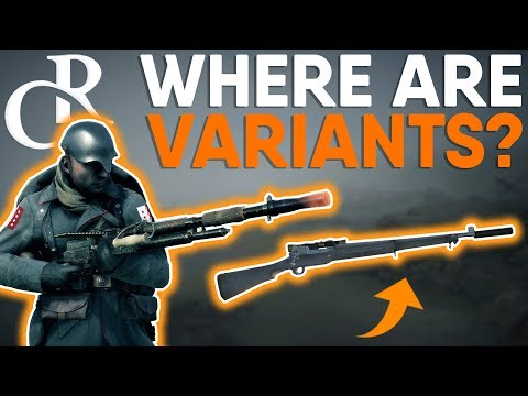 New Weapon VARIANTS - WHERE ARE THEY?! - Battlefield 1 Apocalypse DLC