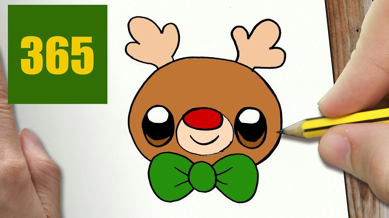 Comment Dessiner Rudolf Kawaii Etape Par Etape Dessins Kawaii