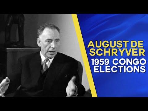 Ministre des Colonies August de Schryver sur les élections au Congo Belge de 1959