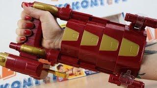 Hasbro - Nerf N-Strike Elite - Marvel Avengers - Rękawica Iron Mana z Wyrzutnią - B5785
