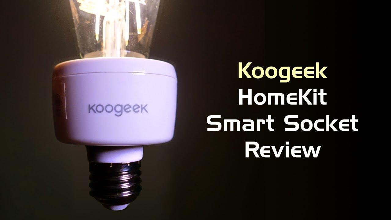 Koogeek HomeKit Smart Light Socket Review - YouTube for Smart Bulb Socket  56bof