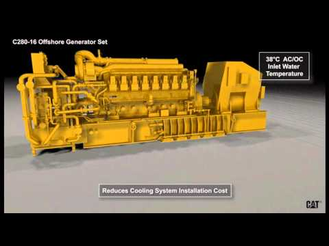 Semi-submersible Offshore Platform | Cat® C280 Engines