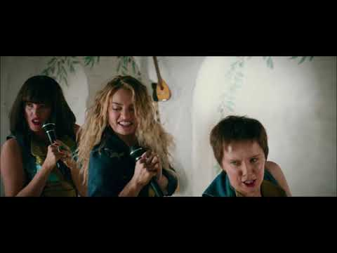 Lily James singing Mamma Mia