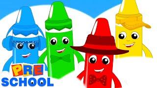 мелки цвет песня | Музыка для детей | развивающий мультфильм | детские стишки | дошкольные видео