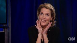 Gillian anderson on CNN with Christiane Amanpour