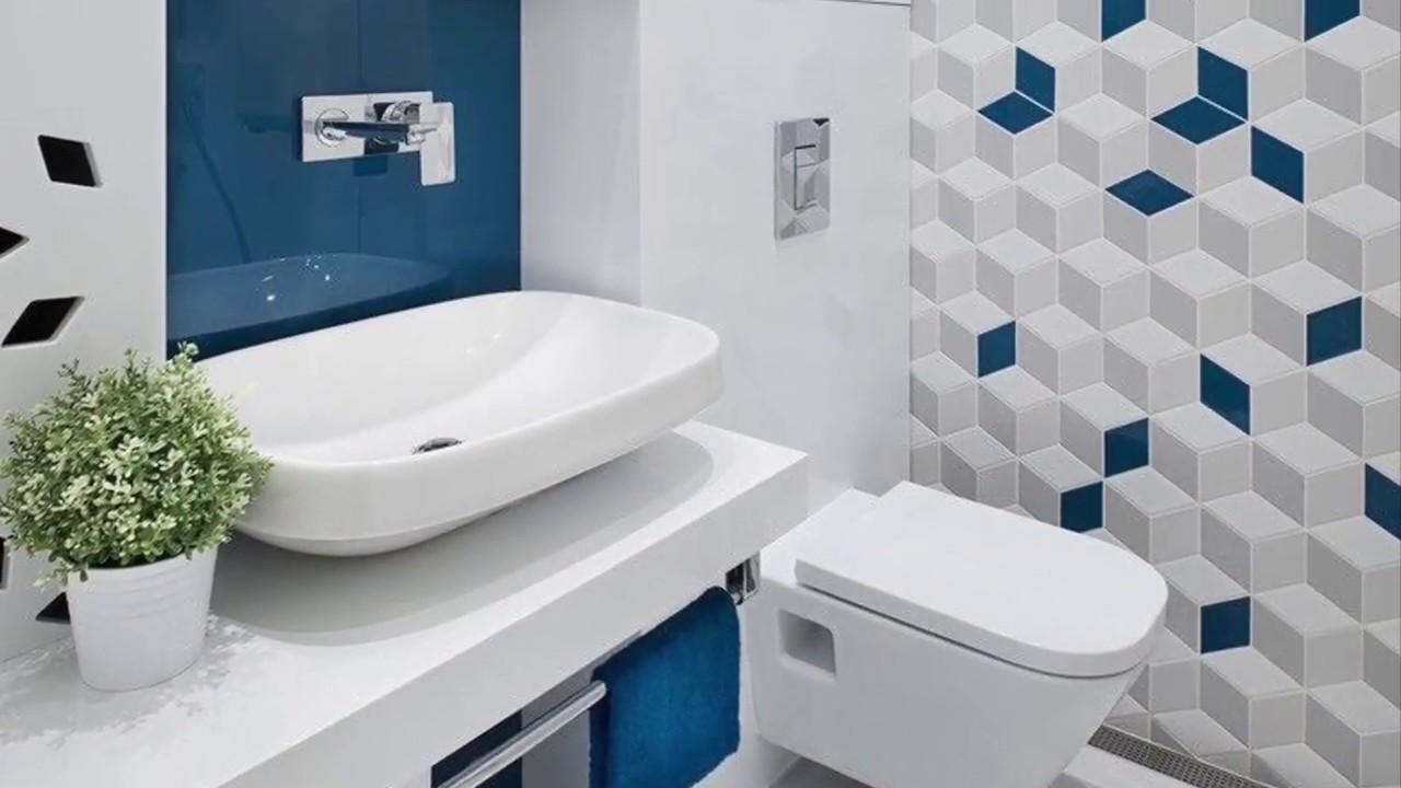 Beautiful Bathroom Floor And Wall Tiles Design Contrasting And Stylish Ideas Youtube