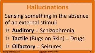 Psychosis: Schizophrenia, Schizoaffective Disorder, Delusional Disorder, Hallucinations