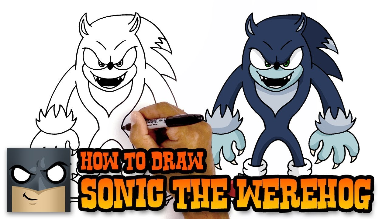 How To Draw Sonic The Werehog Art Tutorial Youtube