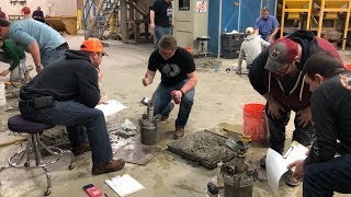Alpena Community College concrete tech students put their skills to the test