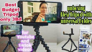 Unboxing | Flexi Tripod Universal Holder/ Unboxing Tripod | Glory Amago Vlogs