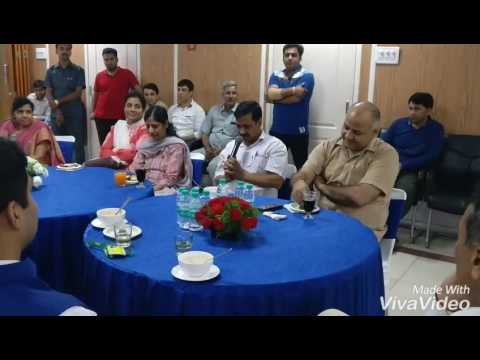 Arvind Kejriwal meet & interact with d Education Dept officers after an impressive result