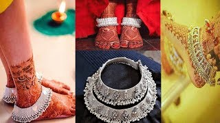 Rajwadi Pajeb/Payal Designs For Bride||Designer Silver Payjeb||Heavy Rajasthani Payal Designs