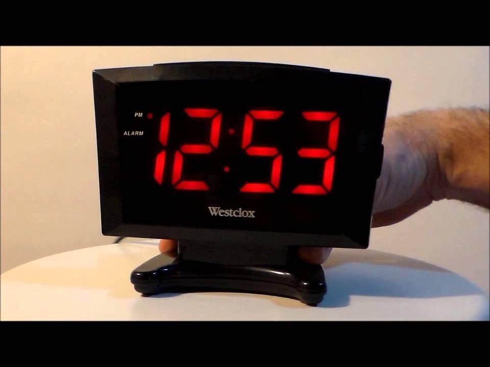 Westclox 70028 Large Display Plasma Digital LED Alarm ...
